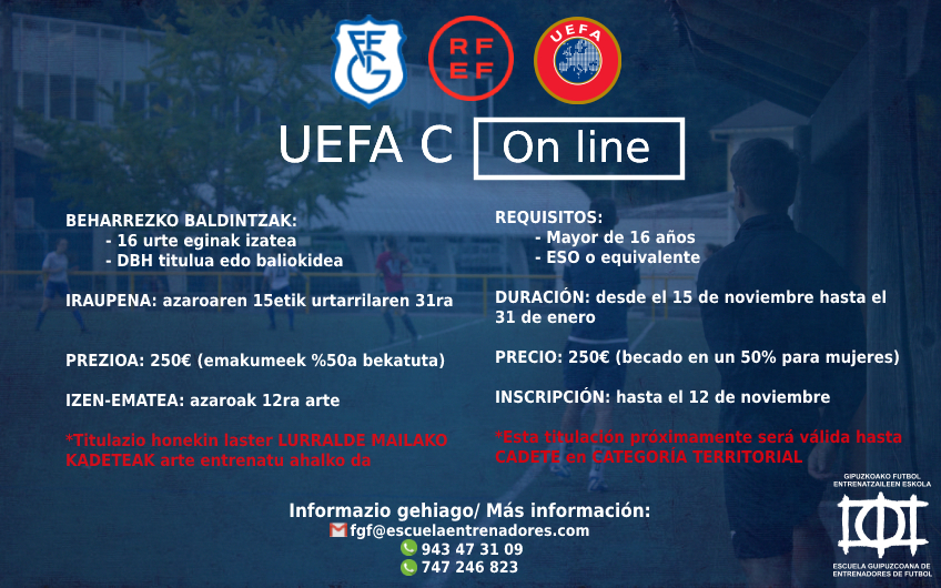UEFA C kurtso berria - GFF-FGF